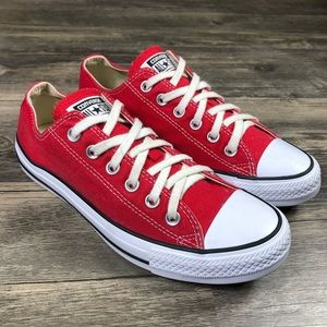 Converse All Star Chuck Taylor Red Low Top Sneaker